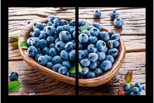 Модульная картина Корзина ягод