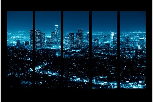 Модульная картина Лазурные огни города